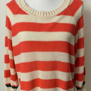 Forever 21+ Womens Sweater Size XL Salmon/Cream